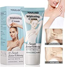 Underarm Whitening Cream, Lightening Cream, Natural Skin Bleaching Cream with Vitamin C Effective for Lightening & Brightening Armpit, Knees, Elbows Neck, Dark Spots, Private Areas, 60g