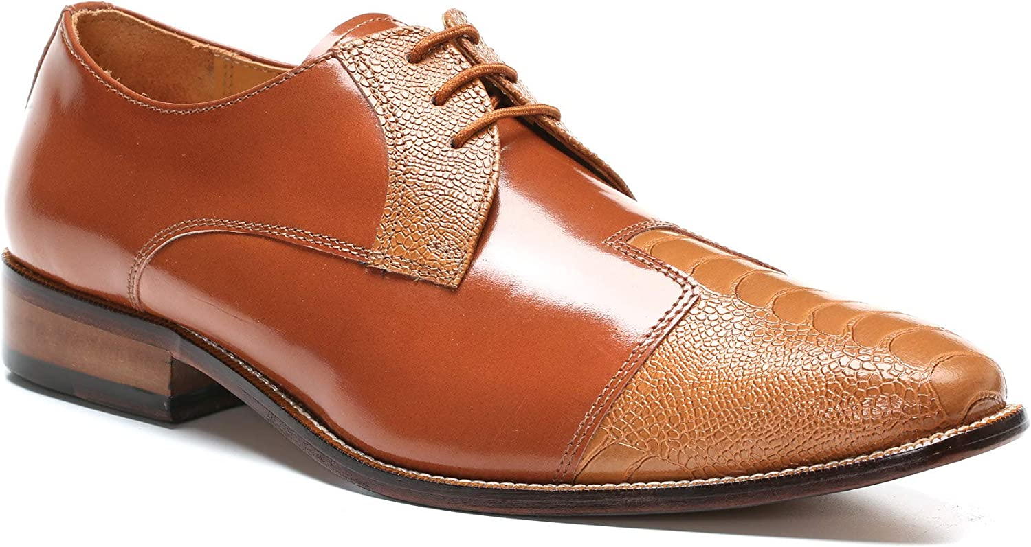 LIBERTYZENO Oxford Dress Shoes for Men Leather Upper Casual Lace Up Shoes