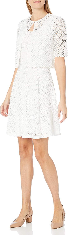 セール特別価格 ROBBIE お歳暮 BEE Women's Crochet with Dress Jacket Sleeveless