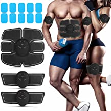 ABS Stimulator Muscle Toner with 10PCS Gel Pads Abdominal Toning Belt EMS Ab Stimulator Muscle Trainer for Men Women