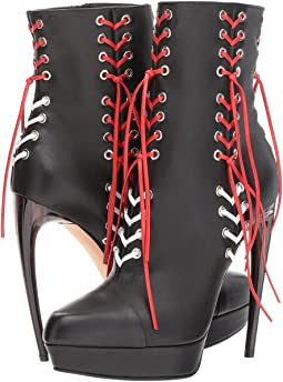 Leather Braided Lace Boot