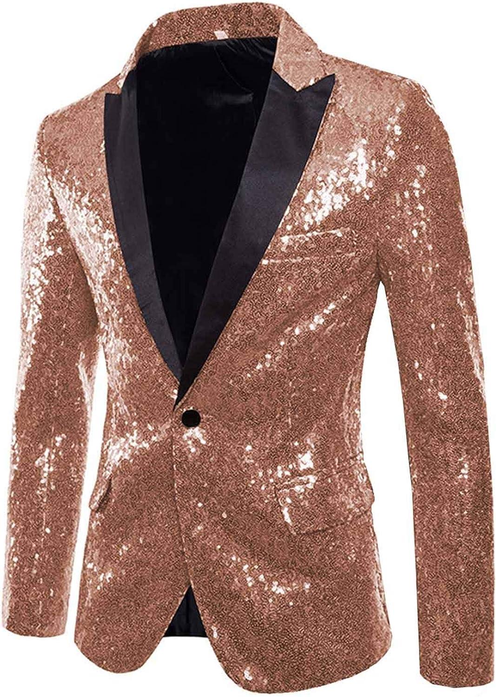 Mens Sequins Ranking TOP6 Blazer Peak Lapel Minneapolis Mall Stage Formal Wear Party Jac Shiny