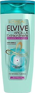 L'Oreal Paris Elvive Arcilla Extraordinaria Champú Cuidado para Pelo Normal O con Tendencia A Engrasarse, 285 ml, Pack de 6