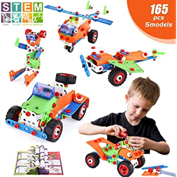 Boltz STEM Building Toys 101 Pc Construction Set Educational For Kids W Pcs