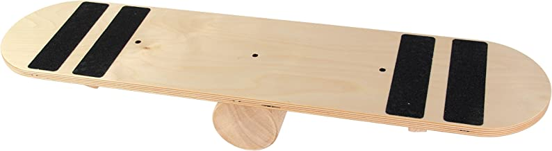 POWRX Balance de Madera de monopatín Tabla de Equilibrio para Entrenamiento Balance Board Fitness Indoor Board