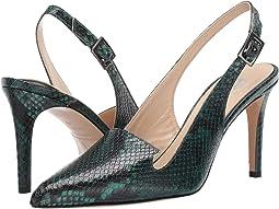 Green Print Nappa Leather