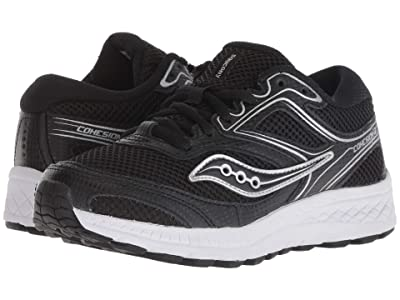 Saucony Kids Cohesion 12 LTT (Little Kid/Big Kid) (Black) Boys Shoes