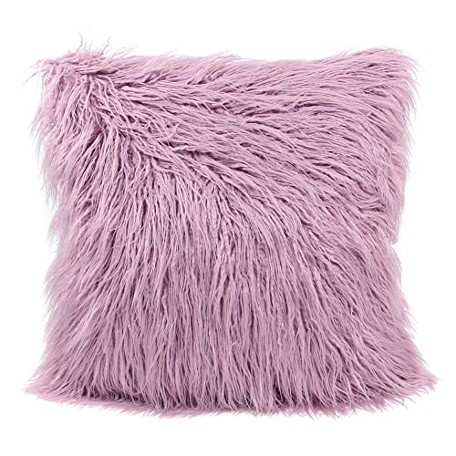 MHJY Faux Fur Pillow CaseMongolian Fluffy Cover Soft Plush Throw Case Cushion