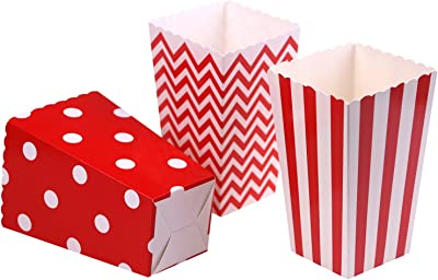 Amazon.com: 12pcs Cajas de palomitas de maíz de rayas bolsas ...