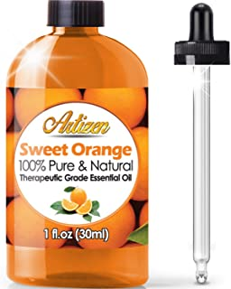 Artizen Sweet Orange Essential Oil (100% Pure & Natural - Undiluted) Therapeutic Grade - Huge 1oz Bottle - Perfect for Aro...