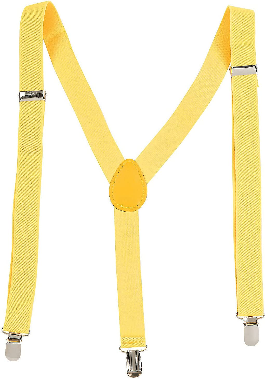 Fun Express Team Spirit Suspenders Yellow - Apparel Accessories - 1 Piece