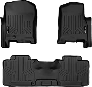 MAXLINER Floor Mats 2 Row Liner Set Black for 2007-2010 Ford Expedition / Lincoln Navigator (All Models Including EL and L)