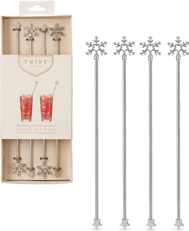 Twine ギフ_包装 Holiday Stir Silver Sticks 送料0円