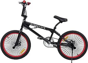 Ridgeyard Bicicleta BMX Free-style 20 pulgadas Rotor 360 °4