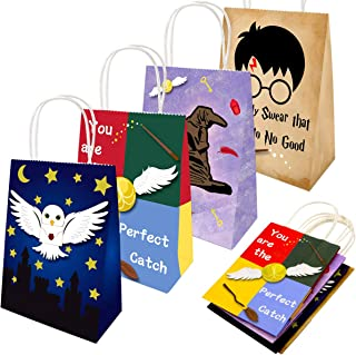 Magic Wizard School Goody Bags for Halloween Theme Party Favor Supply Decorations 16 Pack