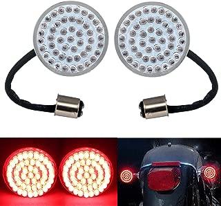 2PCS Bullet Style 1157 Rear RED Turn Signal Light Inserts Kit 2 inch For Harley Davidson Touring FLTRI FLHRS FLHX FLTRU FLTRX