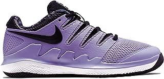Nike Junior's Vapor X (5 US, Purple Agate/Black/White/Hyper Crimson)