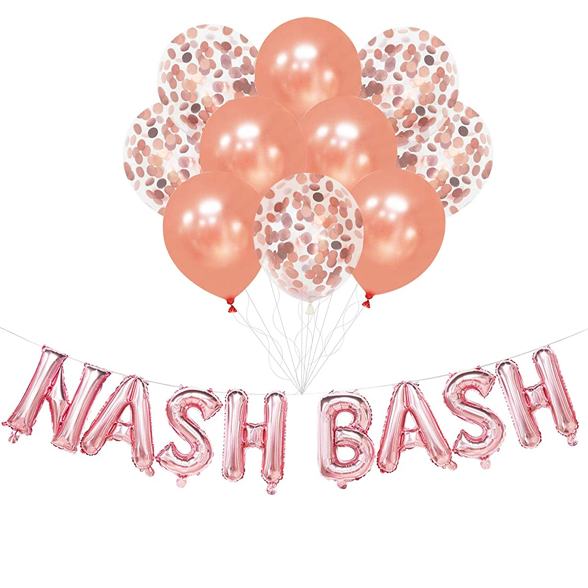 Nash Bash Balloons - Nash Bash Banner - Nash Bash Decorations for Bachelorette Party, Hen Party, Bridal Shower, Engagement Party