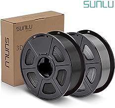 SUNLU PLA Plus Filament 1.75mm 3D Printer 3D Pens 2KG PLA+ Filament +/- 0.02 mm, Black+Grey