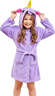 Soft Unicorn Hooded Bathrobe Sleepwear - Unicorn Gifts...