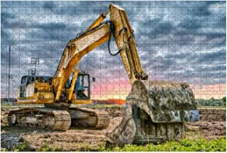 Excavator Machinery at Construction site 1000 Piece Wooden Jigsaw Puzzle DIY Children Educational Puzzles Adult Decompress...