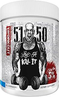 Rich Piana 5% Nutrition 5150 High Stim Pre-Workout Powder   Extreme Energy, Focus, Pumps & Endurance   400 mg Caffeine, Ci...