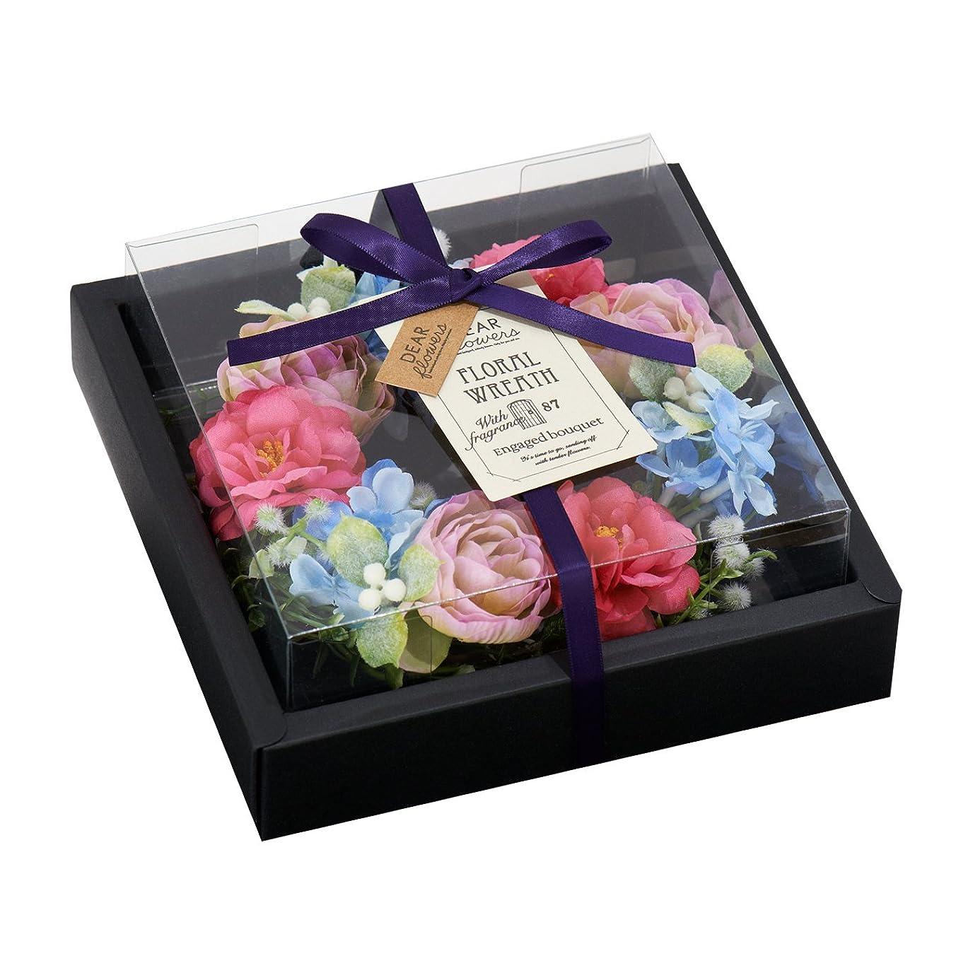虫行動かわいらしいディアフラワーズ フローラルリース 約束の花束