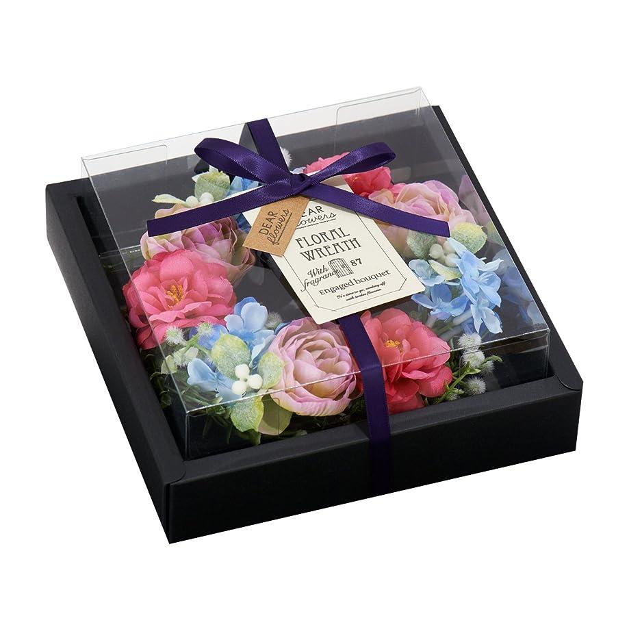 排出ペルメル音ディアフラワーズ フローラルリース 約束の花束