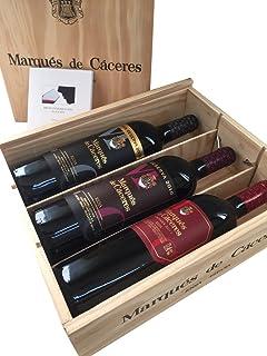 Caja de madera 3 botellas - Marqués de Caceres - Crianza/Reserva / Gran Reserva - Vino tinto