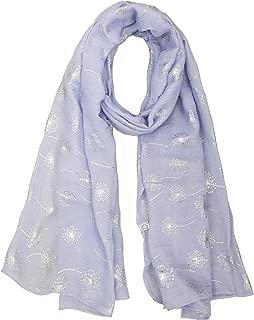 StylesILove Womens Pineapple Metallic Silver Foil Print Fashion Scarf Soft Shawl Wrap
