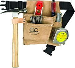 CLC Custom Leathercraft IP489X Suede Tool Bag & Poly Web Belt, 3 Pocket