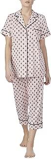 Rose Blush Geo Print 2 Piece Notch Collar Pajama Sleep Set