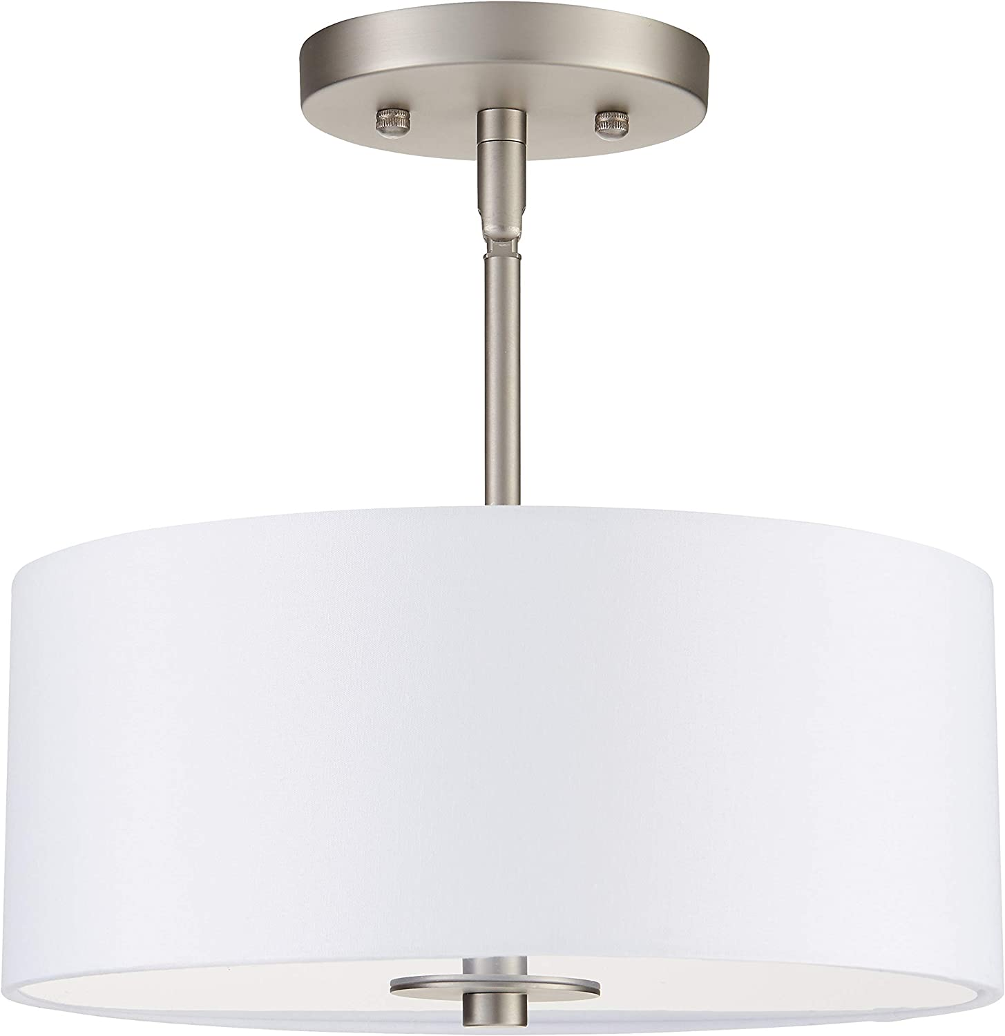 Cosello Brushed Nickel Semi Flush 67% OFF of fixed price Light Ceiling LL-CL185 Long Beach Mall Mount