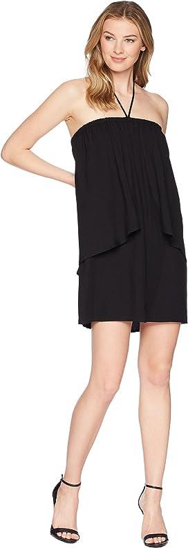 be002801842 April Dual Layer Halter Dress