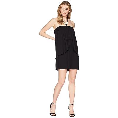 Jack by BB Dakota April Dual Layer Halter Dress (Black) Women