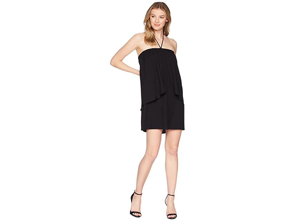Jack by BB Dakota April Dual Layer Halter Dress (Black) Women