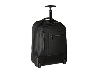 Hedgren Excitor Backpack On Wheels 17 with Laptop Sleeve (Black) Backpack Bags