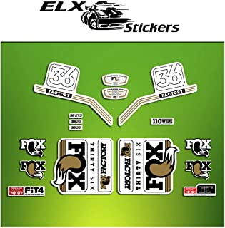 Ecoshirt RK-XNMM-A83L Autocollants Fork Fox 40 Elite Series Am68 Autocollants Fourche Gabel Fourche Rouge