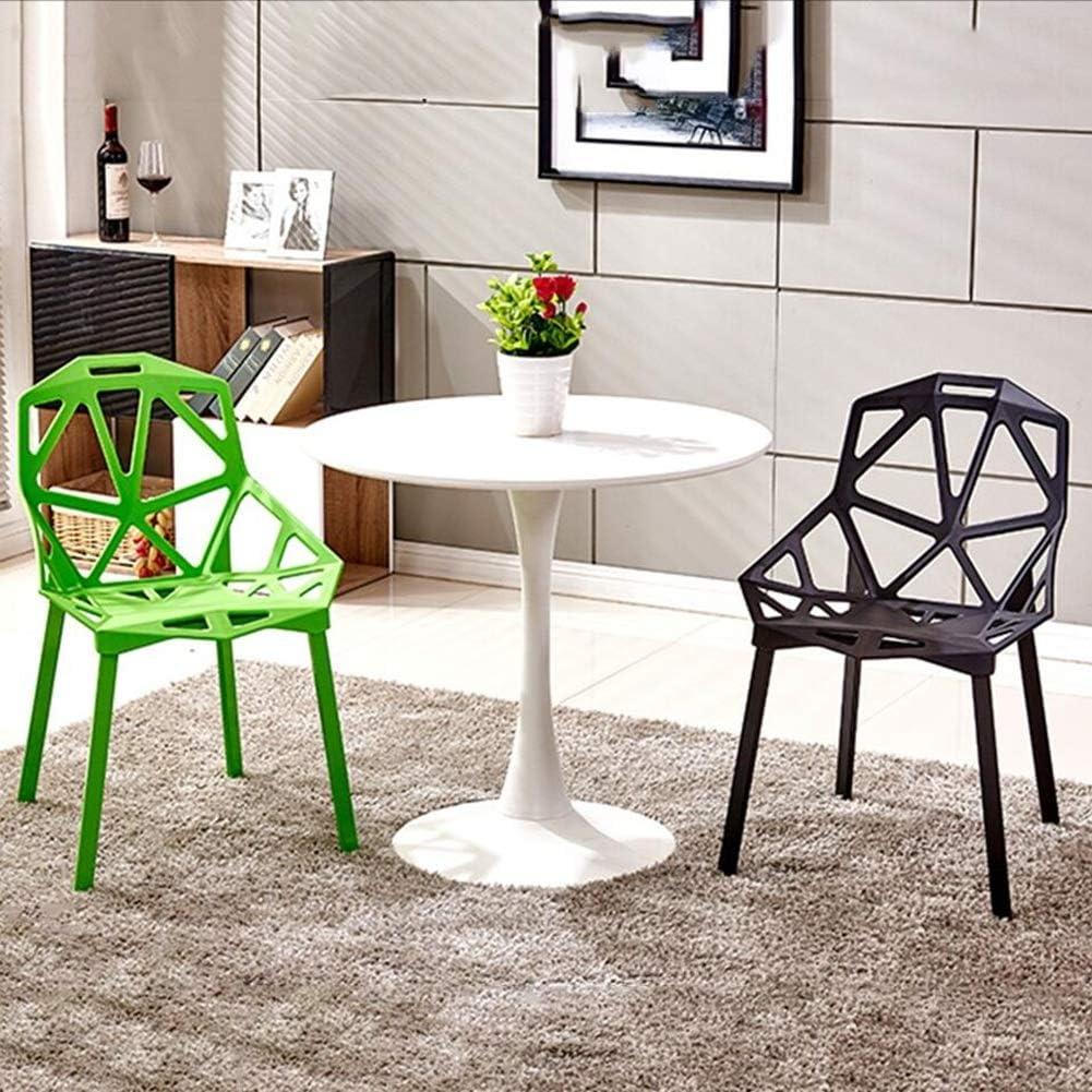 Chaise Fauteuil Siège Chaises Chair Accoudoir Occasionnel Style Novel Mode Creux Simple Négocier Barbecue FENPING (Couleur : Blanc) Noir