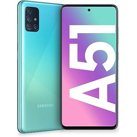"Samsung Galaxy A51 Smartphone, Display 6.5"" Super AMOLED, 4 Fotocamere Posteriori, 128 GB Espandibili, RAM 4 GB, Batteria 4000 mAh, 4G, Dual Sim, Android 10, Blu (Prism Crush Blu)"