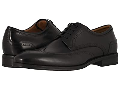 Florsheim Amelio Wing Tip Oxford (Black Smooth) Men