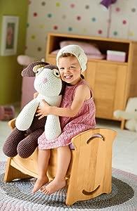 BioKinder 22817 Doll s cot  table and bench  Biological alderwood