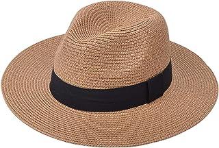 Outflower Paglia Pieghevole Cappello da Sole Adorabile Estate Allaperto Protezione UV Cappelli da Pesca Elegante Pescatore Cappello