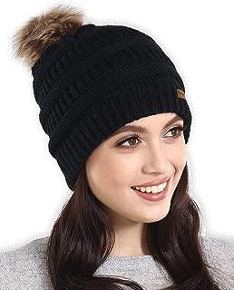 Best knit beanie with fur pom pom Reviews