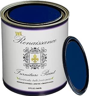 Retique It Chalk Finish Paint by Renaissance - Non Toxic, Eco-Friendly Chalk Furniture & Cabinet Paint - 32 oz (Quart), Black Indigo