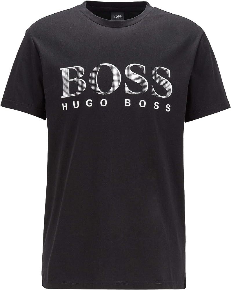 Boss,maglietta, t-shirt per uomo,100% cotone 50407774N
