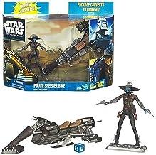 Star Wars Pirate Speed Biker Vehicle and Cad Bane Figure Set (The Clone Wars)