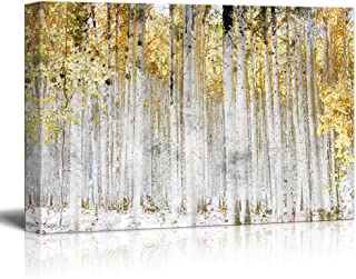 wall26 - Trees with Yellow Leaves - Canvas Art Wall Decor - 32