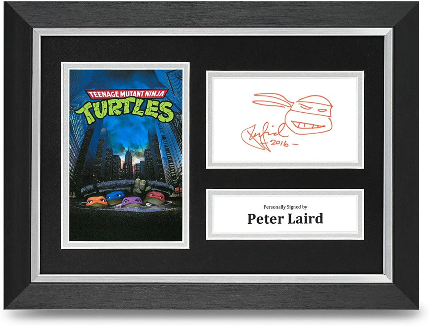 Peter Laird Signed A4 Photo Framed Display TMNT Turtles Memorabilia Autograph