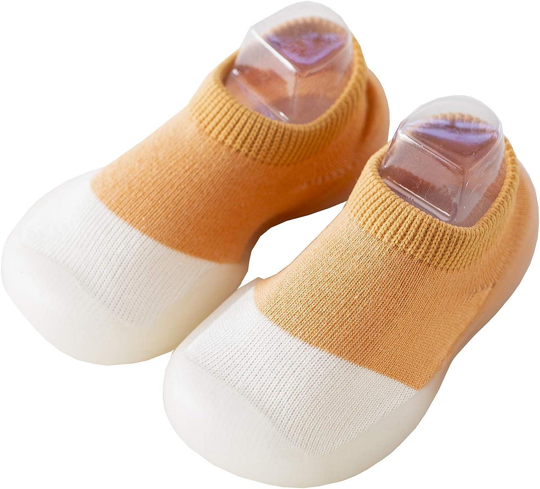 1 PAIR Toddler Shoe Socks Soft Rubber Sole Shoes Anti-Slip Socks, B13